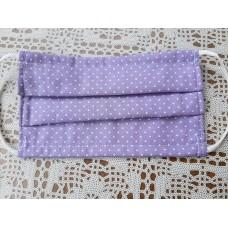 PRALNA MASKA DVOSLOJNE  vijolčna z vzorcem
